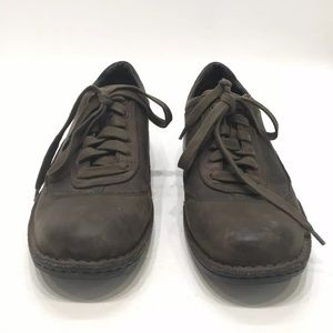UGG Shoes - Ugg Mens Brown Leather Lace Up Casual Shoe Size 13